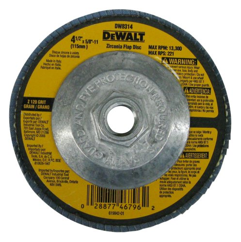 DeWalt dw83144–1/2por 5/8-inch-11120grano circonitas amoladora de ángulo Flap disco