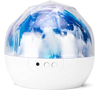 WZHZJ Starry Sky Night Light Planet Magic Projector Earth Universe LED Lamp Colorful Rotate Flashing Star Kids Baby (Color...