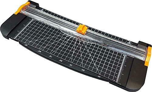 Cortador de papel portátil A4 de precisión giratorio de guillotina de papel de la tarjeta de la foto de la cortadora de la regla de 2 hojas