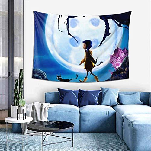 Coraline Tapiz para dormitorio, sala de estar, pared, decoración para colgar en la pared, 60 x 40 pulgadas