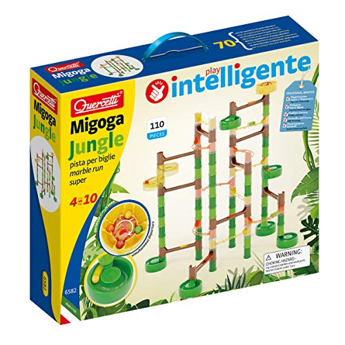 Quercetti - MIGOGA Jungle - 110 Piece Marble Run Toy for Kids Ages 5 Years +