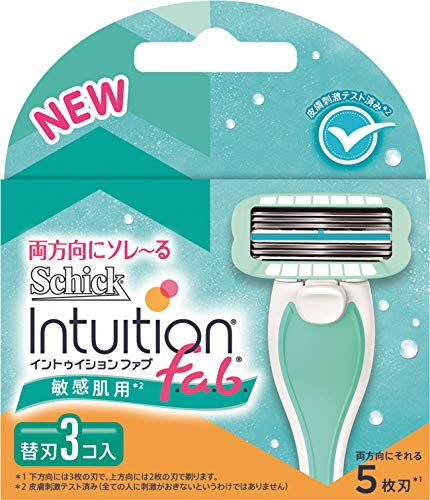 シック ジャパン イントゥイション ファブ 敏感肌用 替刃 3個 シック [8072]
