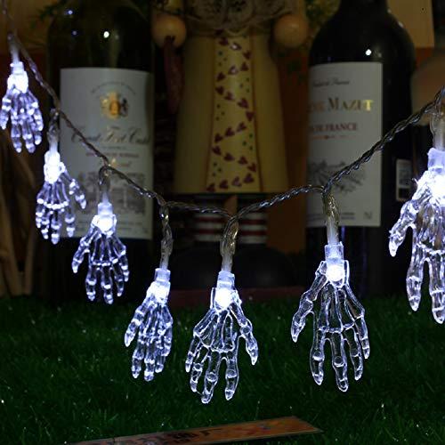 Guiiy Solar Halloween Hand Bone Light String