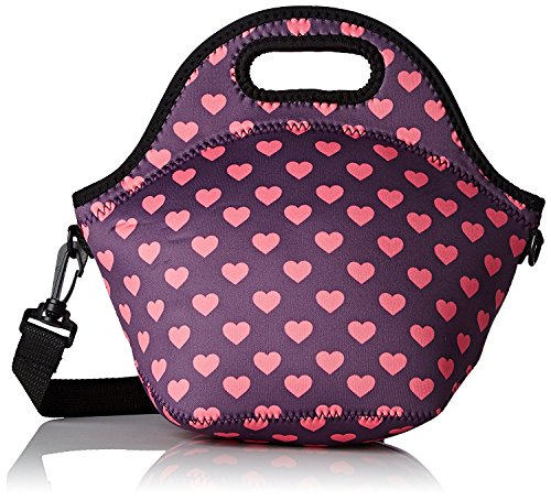 Orchidtent Neoprene Water Resistant Portable Lunch Bag Carry Case Tote with Zipper Strap Box Cooler Container Bags Picnic Outdoor Travel Fashionable Handbag Pouch for Women Men Kids Girls