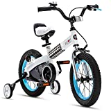 RoyalBaby Boys Girls Kids Bike 14 Inch Buttons Bicycles with Training Wheels Child Bicycle Blue