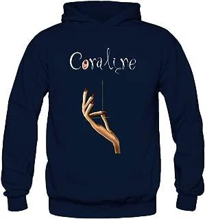 Tommery Women's Coraline Stop Motion Animation Long Sleeve Sweatshirts Hoodie