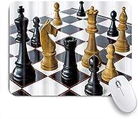 VAMIX マウスパッド 個性的 おしゃれ 柔軟 かわいい ゴム製裏面 ゲーミングマウスパッド PC ノートパソコン オフィス用 デスクマット 滑り止め 耐久性が良い おもしろいパターン (チェスゲームインターナショナルチェス)