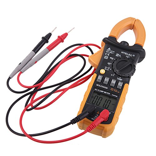 sprigy (TM) digitale professionale AC Clamp Meter w/Back Light multimetro tester HYELEC MS2008B bollitore multimetro 4000conteggi 2015