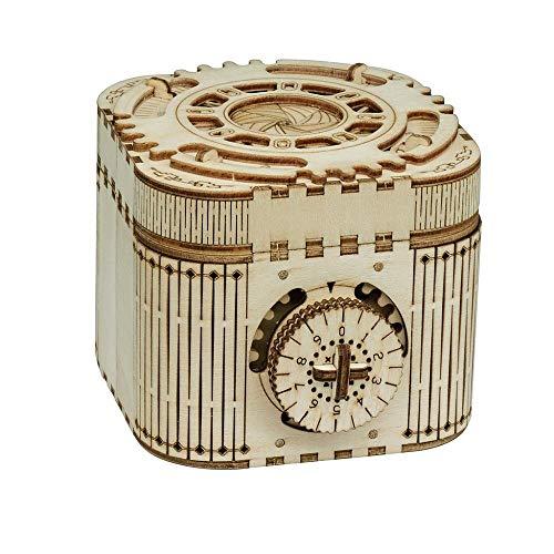XIAOLULU Caja de música para Regalos de niñas Asamblea 3D DIY mecánico Código Transmisión Caja de música de Madera (Color : One Color, tamaño : Un tamaño)