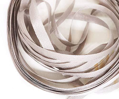 1pc Gris Grigio Grigio Argento 1711 Ruban Au Ver A Soie Piatto di Seta francese Ricamo Nastro Filo Luneville Tambour Uncinetto Spilla 4mm