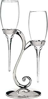 ELEGANI Raindrop Champagne Flutes with Swirl Stand Wedding Reception Supplies