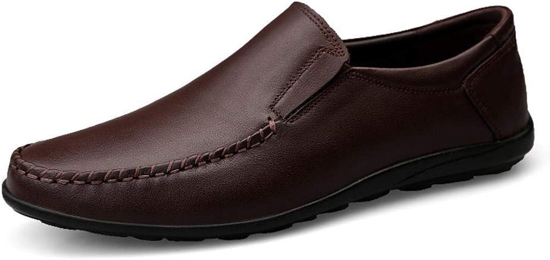 EGS-schuhe Neue Herren Business Freizeitschuhe Leder Herrenschuhe,Grille Schuhe (Farbe   Braun, Größe   43)