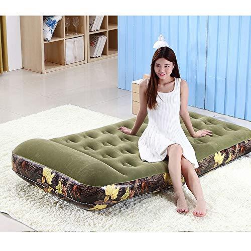 COMSO Santé et sécurité Matériaux PVC Lit Gonflable Camouflage Simple Portable Pliable Matelas Gonflable Confortable Tente Domestique et d'extérieur Lit à usages Multiples