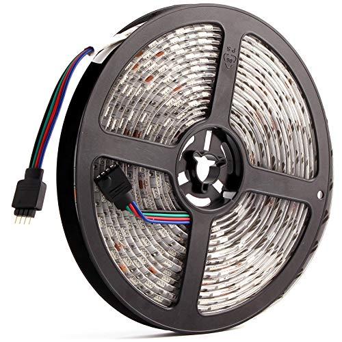 DC 5050 24 V tira LED RGB blanco cálido 24 V 5 metros impermeable banda de luz 60 LED cinta luces lámpara cinta de fondo TV (color: IP20 no resistente al agua, color emisor: RGB)