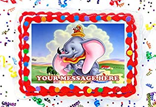 Dumbo Cake Topper Edible Image Personalized Cupcakes Frosting Sugar Sheet (8