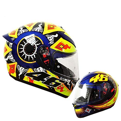 WWJJE - Casco de moto para Honda/Yamaha/Suzuki/Kawasaki, Bandit