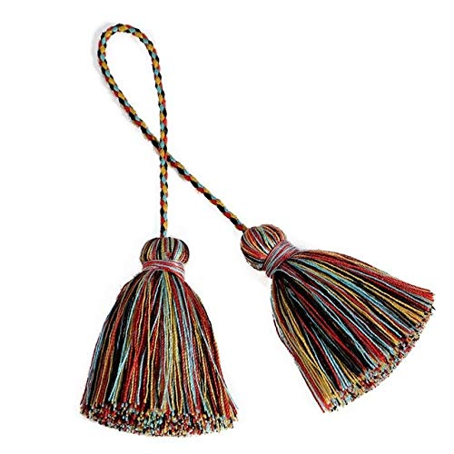 TTBDAN Multicolor poliéster algodón borlas DIY joyería Cortina Accesorios Decorativos Bolsa Colgante Doble Color artesanía Borla Flecos