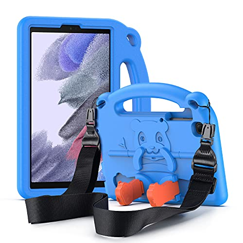 DUZZONA Funda para Samsung Galaxy Tab A7 Lite 8.7''2021 (SM-T220/SM-T225), Estuche Antigolpes con Asa, Correa de Hombr, para Galaxy Tab A7 Lite 8.7 2021,Azul