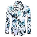 HDDFG Camisa de otoño para hombre, camisa de diseño único, camisa de manga larga estampada a rayas, camisa de oficina informal ajustada para hombre, M-7XL (Color : A, Size : 6XL code)