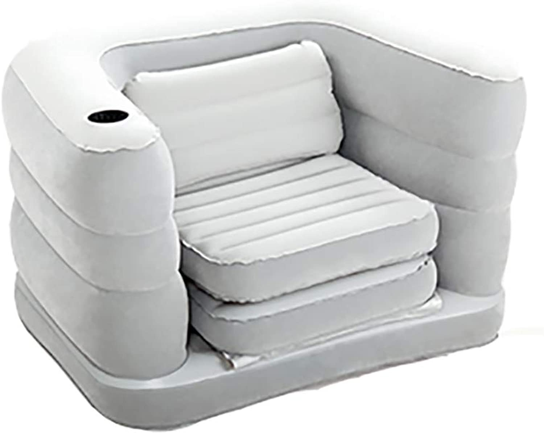 Faule Faule Faule Couch einzelnes faules aufblasbares Sofa Chair Flocking faltendes Freizeit-Sofabett (Farbe   Electric Pump) B07HY1QR3D | Die Farbe ist sehr auffällig  3275c5