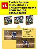 PlusL's Remake Instructions de Chevalier bleu mecha LEGO 70315&70324&70327: Vous pouvez construire le Chevalier bleu mecha de vos propres briques!