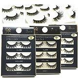 NEPAK 9 Pares Pestañas Postizas,3D Multipack Pestañas Postizas Reutilizables,Pestañas Falsa Largas Gruesas Maquillaje de Ojos para Fiesta de Boda