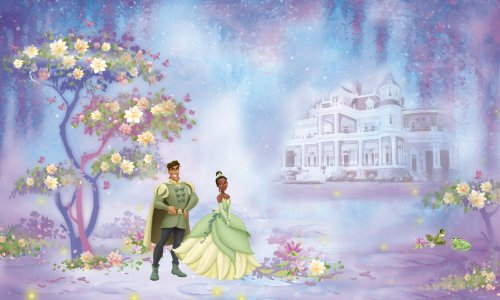 RoomMates JL1206M Disney the Princess and the Frog 6-Foot-by-10.5-Foot Prepasted Wall Mural