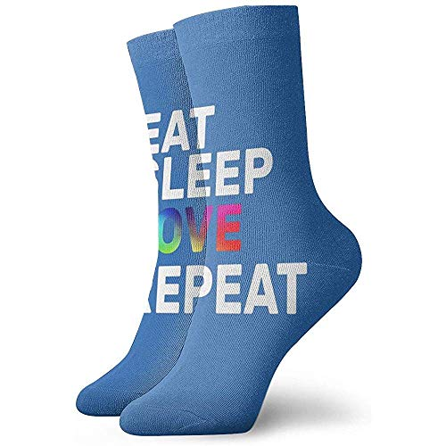 Gre Rry Hommes 'S Eat Sleep Love Repeat Crew Chaussettes Moisture Control Thermal Socks