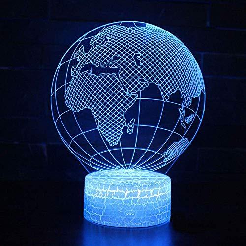 Karte Von Nord- Und Südamerika , Kindernachtlicht 3D-Illusion Nachtlicht Dias Optische Lichter Weihnachtsgeschenke Halloween-Geschenke Geburtstagsgeschenke.