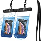 Tiflook Waterproof Pouch Phone Dry Bag Underwater Case for LG Stylo 6 5 4/V60 ThinQ V40/K51/K40/K30/G8X ThinQ/Phoenix 4 3/Aristo 4 3 2 (Up to 6.5') Phone Pouch for Water Sports, Clear (Pack of 2)