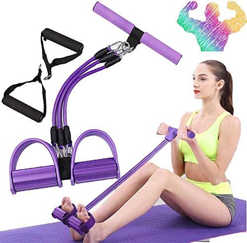 3 Tubes Multifunktions-Leg-Exerciser- Sit-up Bodybuilding Expander - Elastische Zugseil Trainingsgeräte- Elastischen Widerstand Band Yoga SportgeräTe-Pedal Resistance Band.