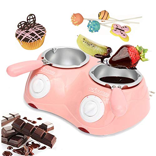 Li Bai Chocolate Fountain Melting Pot Candy Melts Fondue Electric Automatic Temperature Control Anti-Scald With Removable Accessories-Melts Chocolate, Candy, Butter, Cheese, Caramel