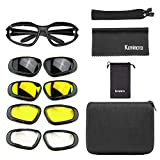 kemimoto Polarized Motorcycle Glasses, Riding Goggles with 4...