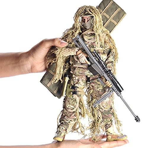 Figura De Acción De Las Fuerzas Especiales Militares a Escala 1/6, Modelo De Soldado De Francotirador Todo Terreno De 12 Pulgadas Con Armas Y Accesorios Militares, Juego De Juguetes De Bricolaje