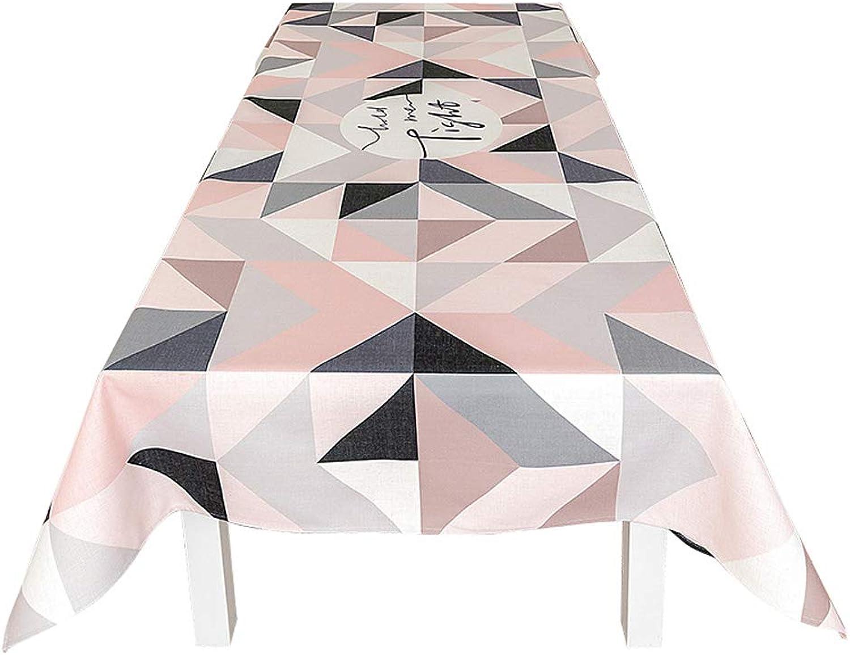 HY Nappe Blended, Ensemble Minimaliste Nordique Tissu Nappe rectangulaire Anti-plissé, 140x180CM, C