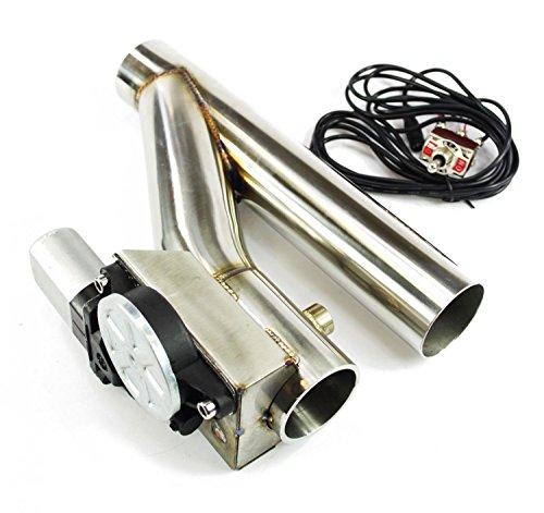 Klappenauspuff-System Y-Rohr, elektrisch inkl. Schalter - 50mm Außendurchmesser