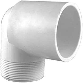 1 1//4-Inch White Schedule 40 PVC 90-Degree Elbow Pipe Fitting Socket // Slip