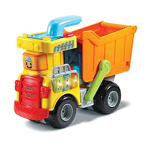 VTech - Tut Tut Bolides - Mon Super Camion Benne 2 en 1 – Jouet Camion Benne / Jouet dès 1 An – Version FR