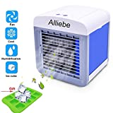 Alliebe Personal Air Cooler Mini Portátil Aire Acondicionado Ventilador Ventilador Ventilador Personal USB Table Fan...