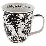 Karma Gifts KA1018 Black and White Boho Mug, 1 EA, BEETLE