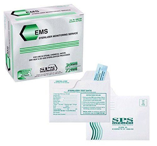 SPS Medical EMS-052 Econo Mail-In Sterilizer Monit or Service 52/Bx