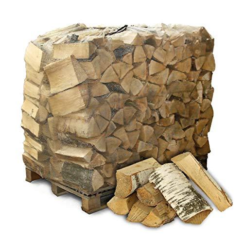HEIZFUXX Brennholz Kaminholz Feuerholz Grillholz Ofenholz Smokerholz Scheitholz Birken Holz Trocken Ofenfertig Birke 33cm 1RM = 1,4SRM / 1 Palette Paligo