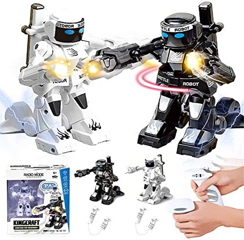 2.4g RC Robot Boxing Robot Remote Control Fighting Robot, ArmoredBot RC Dueling Titans War With Cool Light & Sound Effects, Remote Control 2 Player Battle Bots For Boys