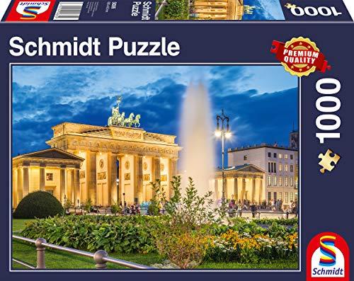 Schmidt Spiele Puzzle 58385 Brandenburger Tor, Berlin, 1000 Teile Puzzle, bunt