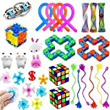 31 Pack Sensory Fidget Toys Set, Stress Relief Toys for Adults Kids Anxiety Autism, Treasure Chest Prizes Box Toys, Party Favors for Kids, Carnival Games Prizes, Pinata Goodie Bag Fillers, Christmas Stocking Stuffers, School Classroom Rewards
