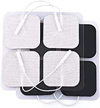 TENS Unit Pads, 40PCS, 2x2 Electrodes for EMS Muscle Stimulator Massager Medical Electrotherapy Pads, Reusable and Latex-Free