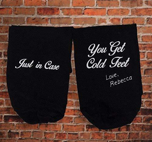Cold Feet Socks-Funny Groom Gift By Wedding Tokens