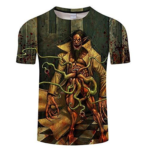 T-Shirt T-Shirt à séchage Rapide Hommes Chemises Fitness Respirant Hauts T-Shirt imprimé 3D été décontracté asiatiquexl Txkh1342