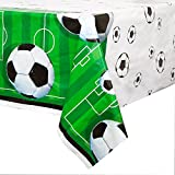Soccer Party Plastic Tablecloth, 84' x 54'