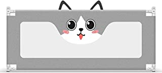 Teppichks Gray Bed Rail For Toddlers Foldable For Kids Baby Bed Guard Rail High 94cm  Size 150cm